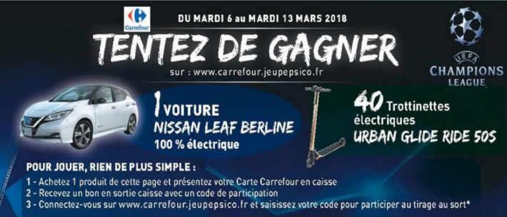 www.carrefour.jeupepsico.fr - Grand jeu Carrefour