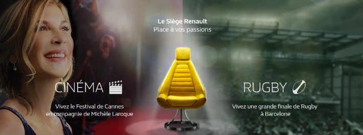 grand jeu le si ge renault. Black Bedroom Furniture Sets. Home Design Ideas