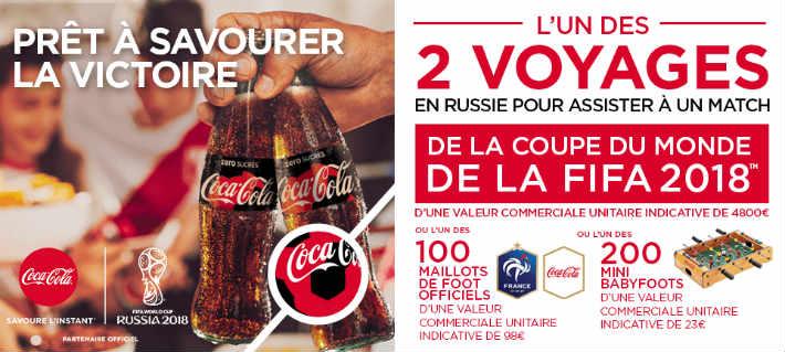 Grand jeu Coca Cola Intermarche.com - Match coupe du monde 2018 à gagner(