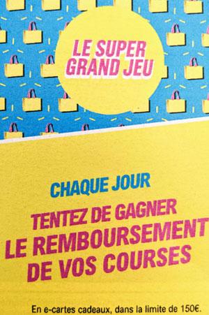 Super Grand Jeu Chez Leclerc Caddie remboursé